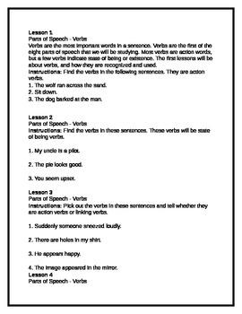 Daily Grammar Reviews - Verbs