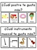 Daily Graphing Questions - Spanish Version