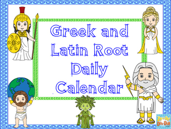 Daily Greek Roots/Prefixes Suffixes