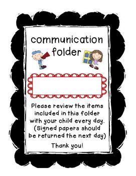 Daily (HW/Communication) Folder Cover