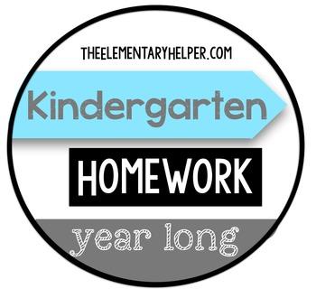 Kindergarten Homework {Year-Long Daily Assignments}