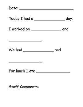 Daily Journal Communication Template (PDF)