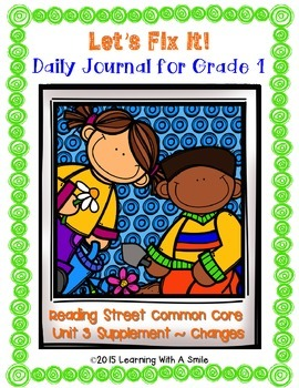 Reading Street FIRST GRADE Daily FIX ITS  (Unit 3) ~  LET'