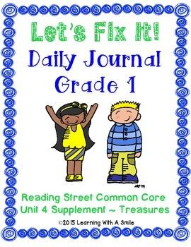 Reading Street FIRST GRADE Unit 4 Daily FIX-ITS Journal: L