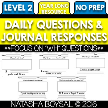 Daily Journal Level 2 (Writing for the Entire Year)