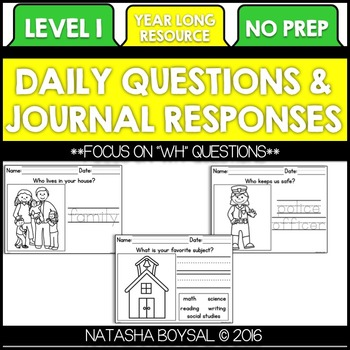 Daily Journal Level 1 (Writing for the Entire Year)