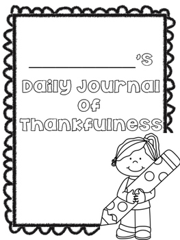 Daily Journal of Thankfulness