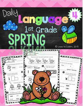 Daily Language 4 (Spring) First Grade