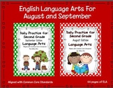 Language Arts Daily Practice for Second Grade (August & Se