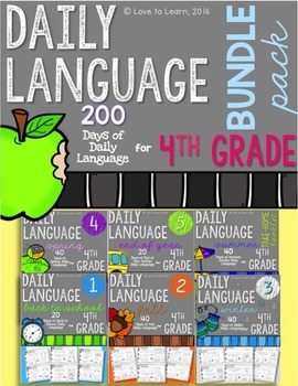 Daily Language Fourth Grade Bundle Pack