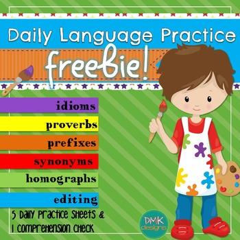 Daily Language Practice -FREEBIE!