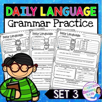 Daily Language Practice Grammar Review Grade 1, Set 3