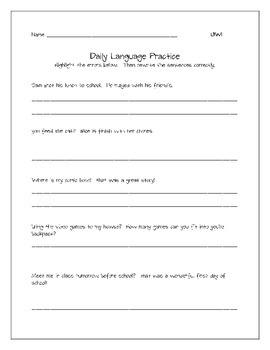Daily Language Practice Unit 1