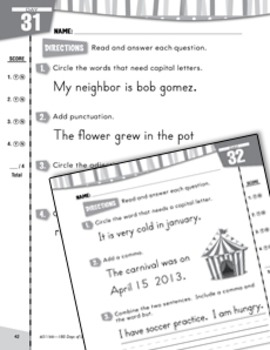 Daily Language Practice for First Grade
