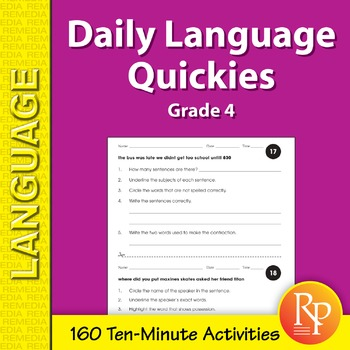 Daily Language Quickies (Grade 4)