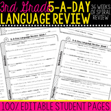 3rd Grade Daily Language Spiral Review  Morning Work