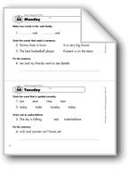 Daily Language Review, Grade 1: Week 20