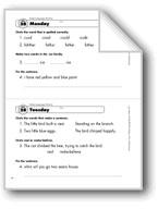 Daily Language Review, Grade 1: Week 28