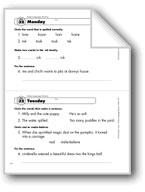 Daily Language Review, Grade 1: Week 32