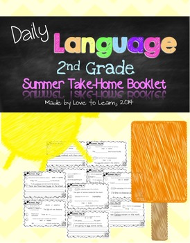 Daily Language Summer Take-Home Booklet Second Grade