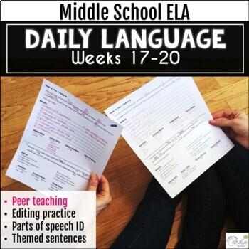Daily Language Using Peer Teaching, Weeks 17-20