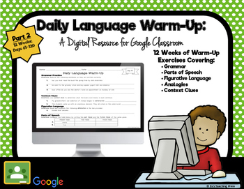 Daily Language Warm-Up: A Digital Resource for Google Clas
