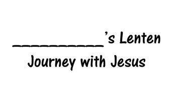 Daily Lenten Calendar/Journal