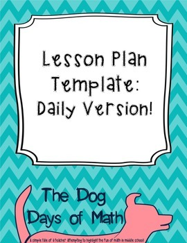 Daily Lesson Plan Template with Weekly Overview