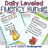 Daily Leveled Fluency Notebook Strips & Passages GROWING Bundle