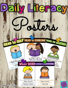 Daily Literacy - Daily Five Posters