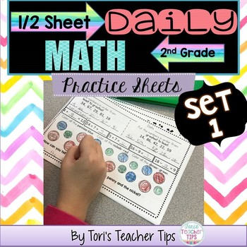 Daily MATH 1/2 sheets SET 1