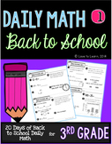 Daily Math 1 (Back to School) Third Grade