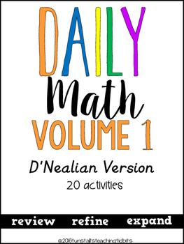 Daily Math 1 D' Nealian