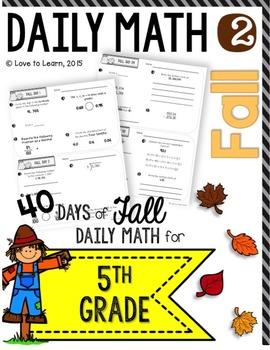 Daily Math 2 (Fall) Fifth Grade