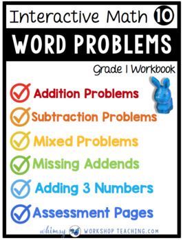 Grade 1 Math - Word Problems to 10 and Daily Math Workbook