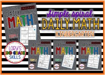 Daily Math  Kindergarten - All 4 terms