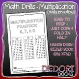 Daily Math Drills - Multiplication Mini Books