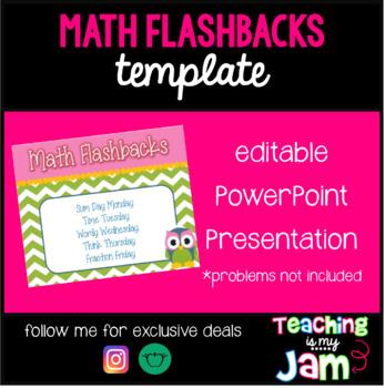 Daily Math Flashback Power Point