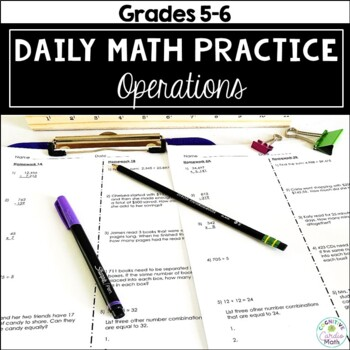 Daily Math Homework: Operations