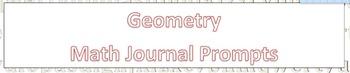 Daily Math Journal Prompts Bundle