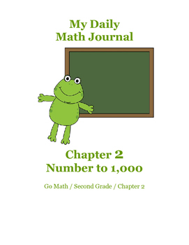 Daily Math Journal for Second Grade Go Math Chapter 2