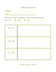 Daily Math Journal for Second Grade Go Math Chapter 3