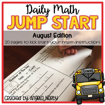 Daily Math Jump Start: August {2nd Grade}