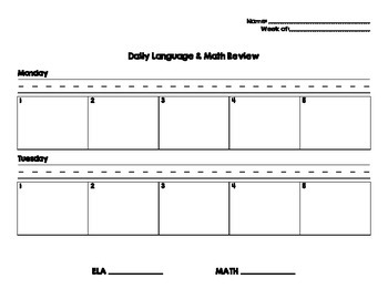 Daily Math & Language Review