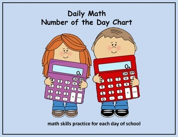 Daily Math Number of the Day Charts for the Entire School Year