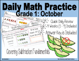 Daily Math Practice (Grade 1) October