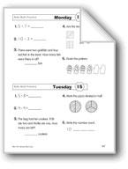 Daily Math Practice (Grade 1/Week 15)