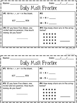 Daily Math Practice 2nd Grade! Set 5