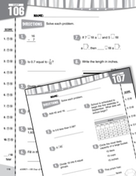 Daily Math Practice for Fourth Grade