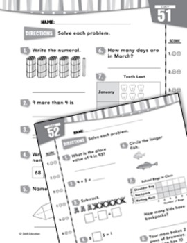 Daily Math Practice for Second Grade